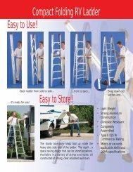 Compact Folding RV Ladder - TriStar Distributing