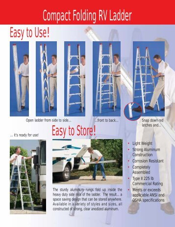 Compact Folding RV Ladder - TriStar Distributing