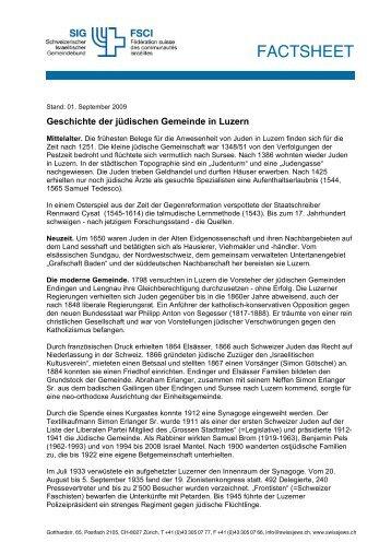 Luzern - Schweizerischer Israelitischer Gemeindebund