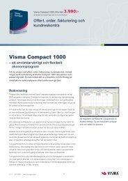 Visma Compact 1000.indd - Visma Spcs AB
