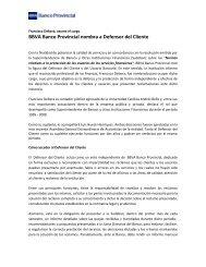 BBVA Banco Provincial nombra a Defensor del Cliente
