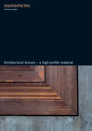 Architectural bronze – a high-profile material - swissmetal