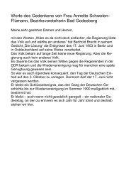 Worte des Gedenkens von Frau Annette Schwolen- Flümann ...