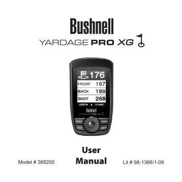 User Manual - Bushnell Golf