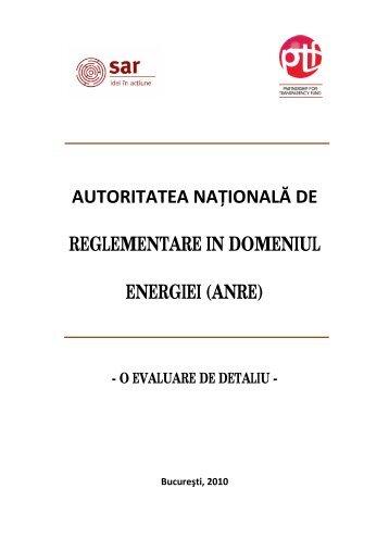 autoritatea naţională de reglementare in ... - Petroleumclub.ro
