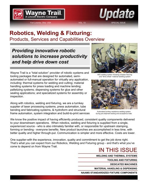 PDF: Robotics, Welding and Fixturing - Wayne Trail
