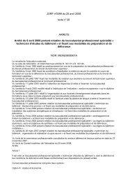JORF n°0098 du 25 avril 2008 texte n° 28 ARRETE Arrêté du 8 avril ...