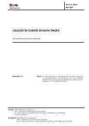 LIGAÇÃO DE CLIENTES DE BAIXA TENSÃO - EDP Distribuição
