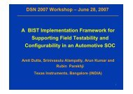 A BIST Implementation Framework for Supporting Field Testability ...