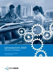 Jahresbericht 2009 - Swissmem