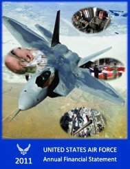 United States Air Force Annual Financial Statements 2011