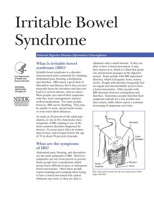 Irritable Bowel Syndrome - National Digestive Diseases Information ...