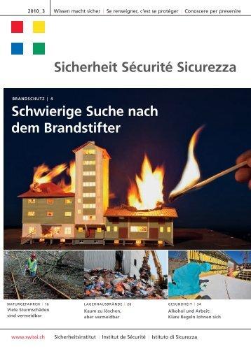 Sicherheit Sécurité Sicurezza Schwierige Suche nach dem - Swissi