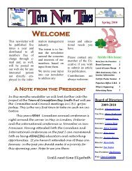 ARMA Newsletter Spring 2010 - ARMA Terra Nova Chapter