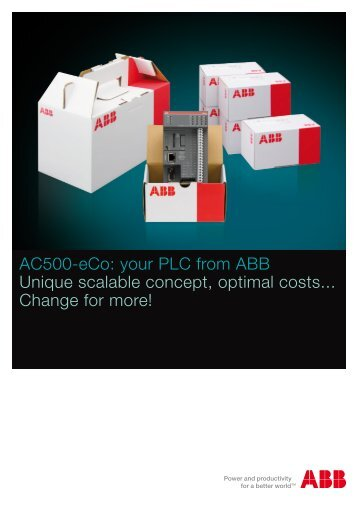 AC500-eCo: your PLC from ABB Unique scalable concept, optimal ...