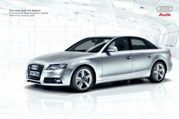 The new Audi A4 Saloon Pricing and Specification Guide
