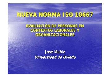 Conocer la nueva Norma ISO 10667 - Consejo General de Colegios ...