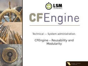CFEngine – Reusability and Modularity