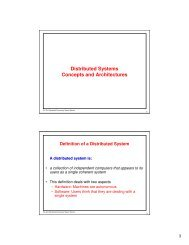 Distributed Systems Concepts and Architectures