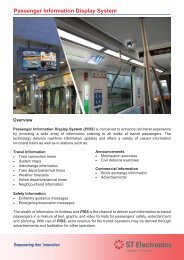 Passenger Information Display System - ST Electronics
