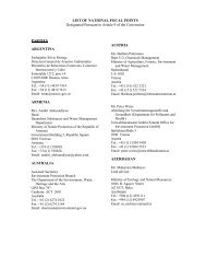 LIST OF NATIONAL FOCAL POINTS Designated Pursuant to Article ...