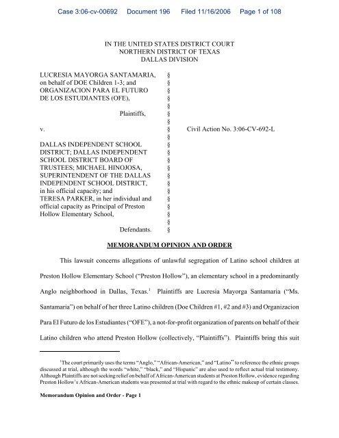 Memorandum Opinion and Order - maldef