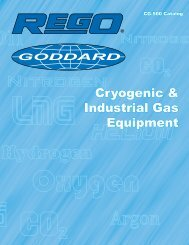 Cryogenic & Industrial Gas Equipment - Rego Products