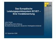Das Europäische Leistungspunktesystem ECVET – Eine Vorabbewertung ...