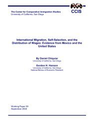 Working Paper #59 - Center for Comparative Immigration Studies ...