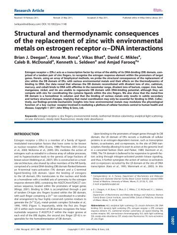 Structural and thermodynamic consequences of the replacement of ...