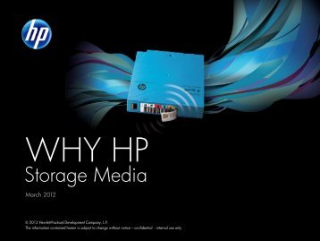 HP StorageWorks x510 Data Vault Competitive Compare & How To ...