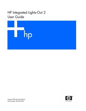 HP Integrated Lights-Out 2 User Guide