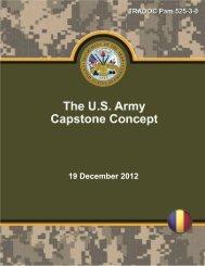 U.S. Army Capstone Concept (PDF) - Defense Innovation Marketplace