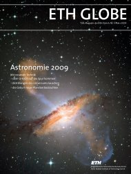 ETH Globe, Astronomie - LAV - ETH Zürich