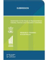 CRCA submission research training Australia - CRC Association