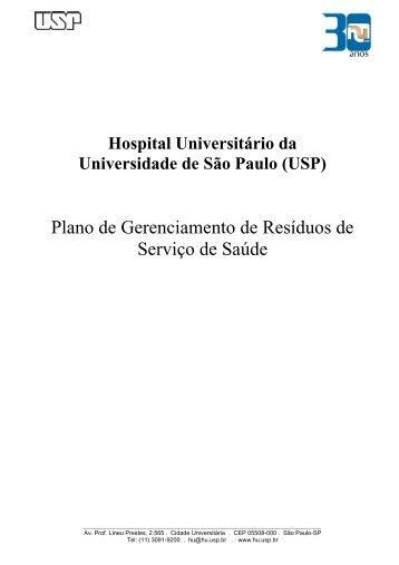 Plano - Hospital Universitário – USP