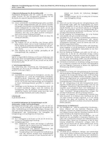 AGB Verlag Druck LINUS WITTICH KG Herzberg
