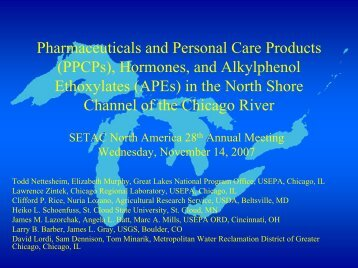 Pharmaceuticals and Personal Care Products (PPCPs), Hormones ...