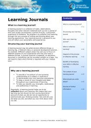 Learning Journals - University of Worcester