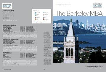 mba.haas.berkeley.edu The Berkeley MBA