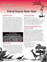 NewsNote 04/02 - Cornell Lab of Ornithology