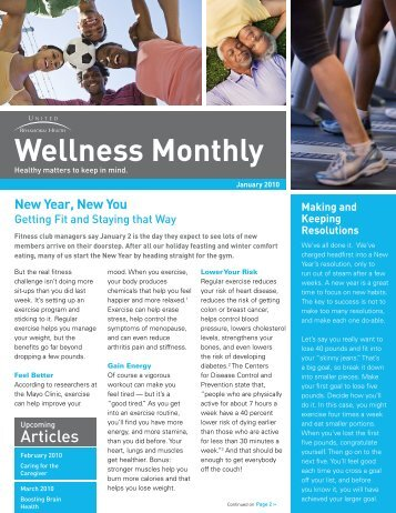 Wellness Monthly - ConnectiCare
