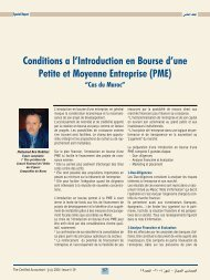 Conditions a l'Introduction en Bourse d'une Petite et ... - Lacpa.org.lb