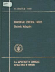 MICROWAVE SPECTRAL TABLES Diatomic Molecules
