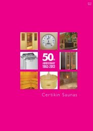 Certikin Saunas - Nordiska Kvalitetspooler