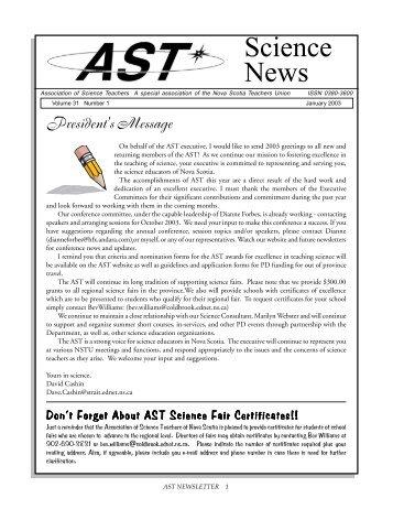 Science News - Association of Science Teachers