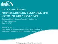 American Community Survey - State Health Access Data Assistance ...