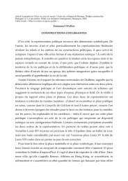 Constructions coulissantes - ReprésentationS