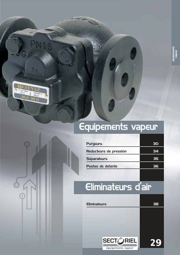 Equipements vapeur Eliminateurs d'air 29