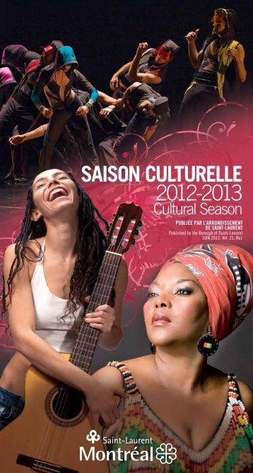 Saison culturelle 2012-2013 - Ville de Montréal